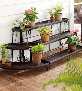 Three tier corner plant stand