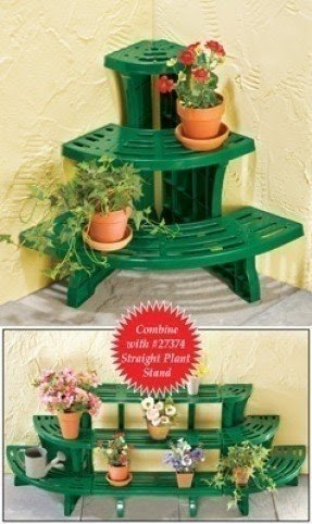 Tiered corner plant stand 2