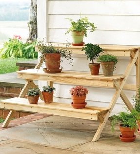 Tiered corner plant stand 8