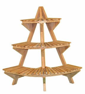 Tiered corner plant stand