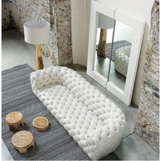 Awesome Tufted White Leather Sofa Ideas On Foter Interior Design Ideas Gentotthenellocom