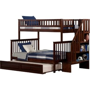 Twin over twin bunk beds with trundle