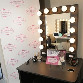 Makeup vanity table with lights foter vanity table with lighted mirror aloadofball Image collections