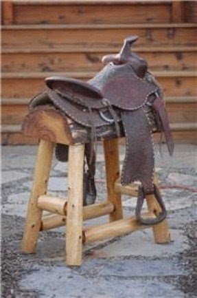 Western saddle stool unique cowboy furniture choose saddles 110 lbs