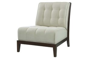 White leather slipper chair 4
