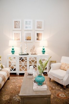 White mirrored buffet