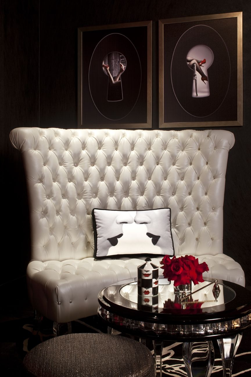 White Tufted Couch