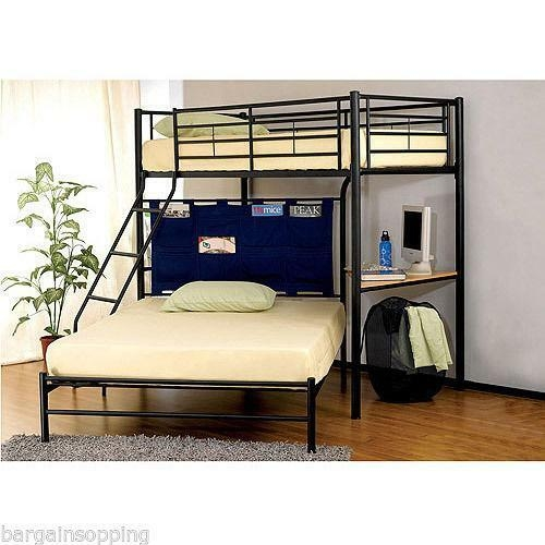 Winoma Twin Over Full Bunk Bed Black