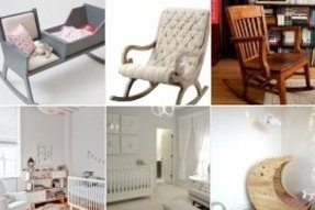 Wood rocking chairs for nursery