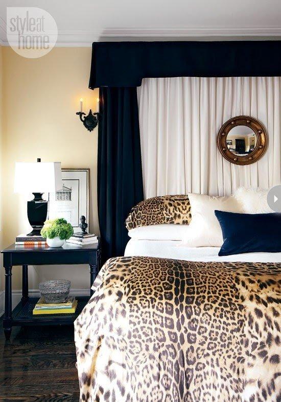 Blue Animal Print Bedding