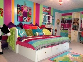 Bright bed sheets
