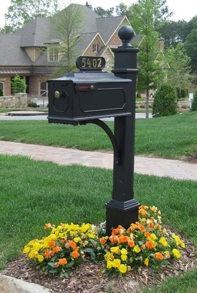 Cast Aluminum Mailbox Post Foter