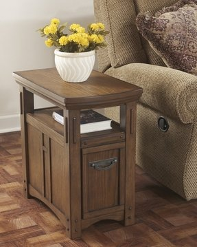 Elegant Wedge Side Table with Drawer