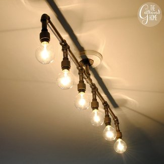 Copper track lighting 24
