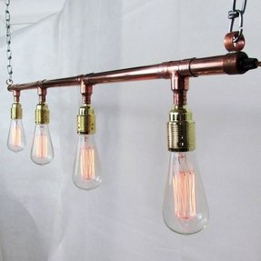 Copper track lighting 4