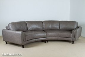Curved leather couch 3