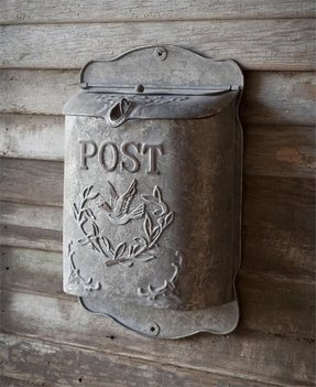 Decorative wall mounted mailboxes