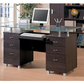 Computer Desk With Locking Drawers - Foter