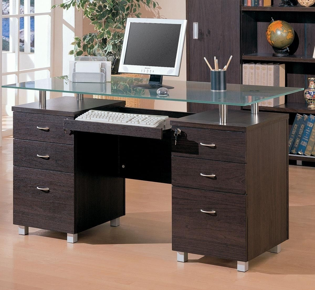 Etonnant Computer Desk With Locking Drawers   Ideas On Foter