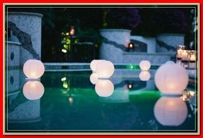 Floating pool lanterns