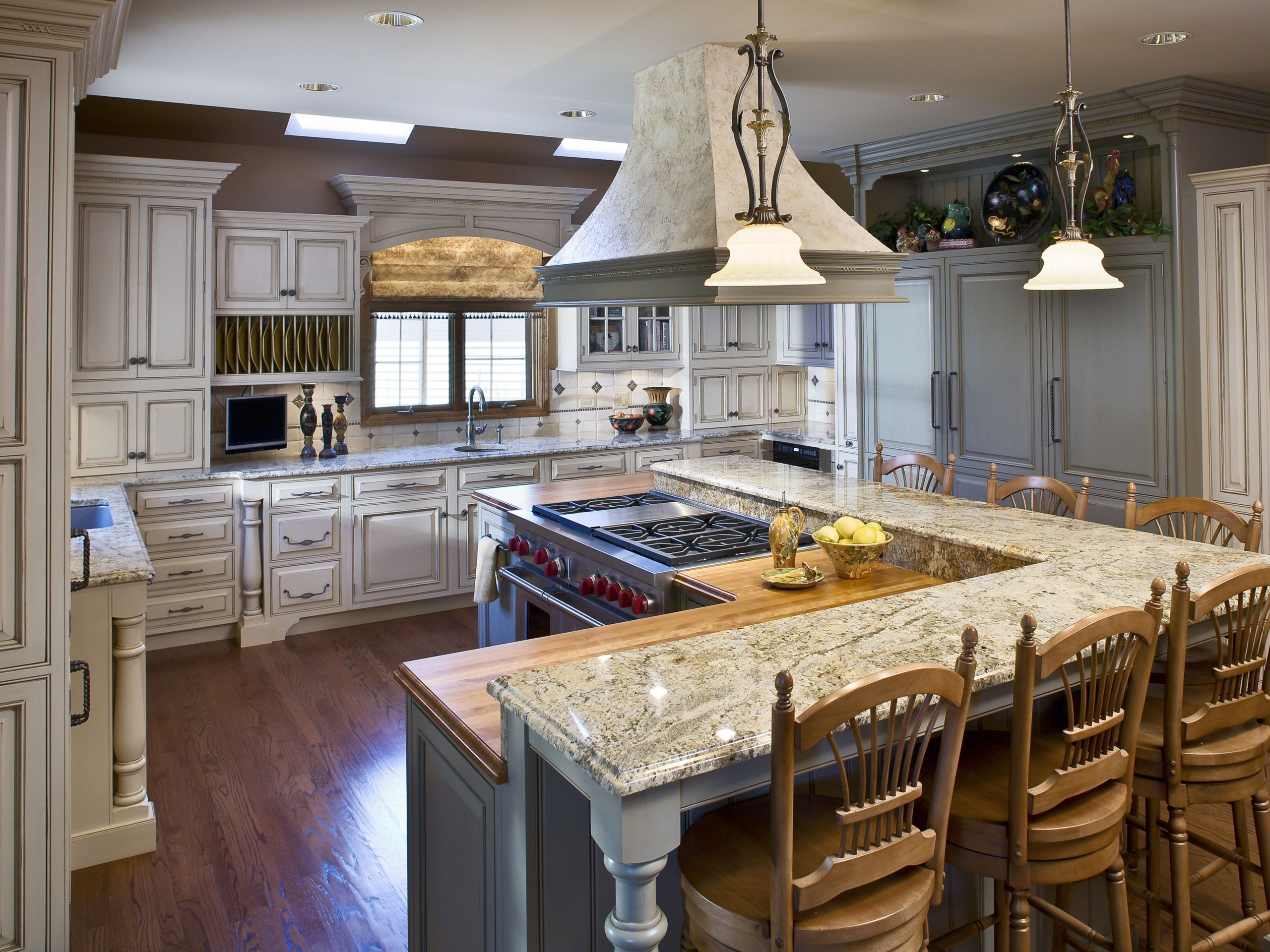 Granite Kitchen Island With Seating