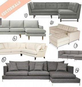 Grey sectional couch 1