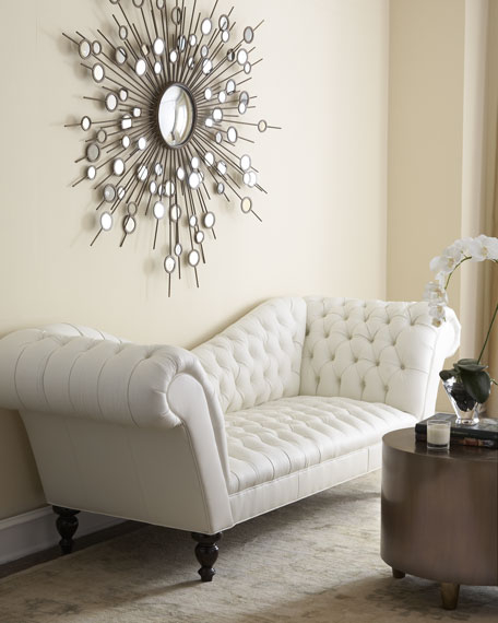 Leather Couch Tufted
