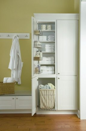linen cabinet with hamper - Bathroom Linen Cabinets