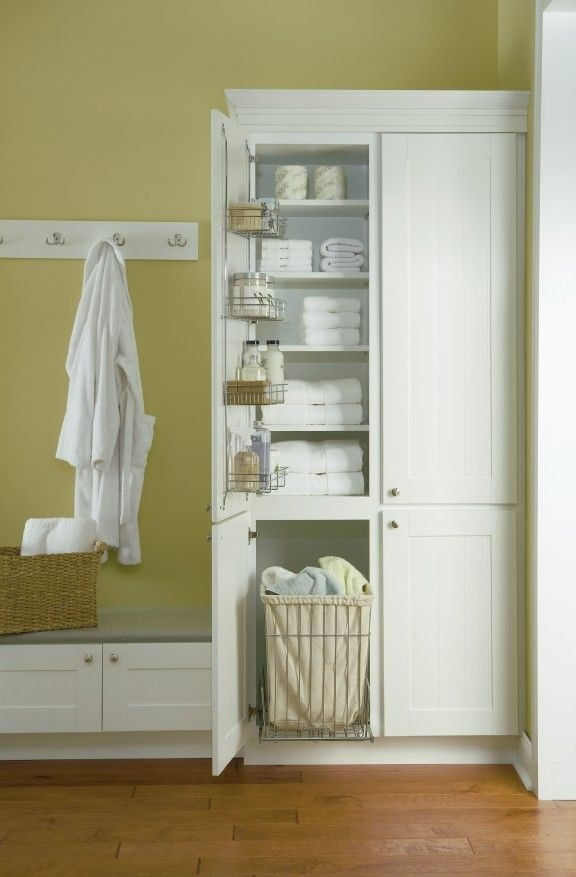 Awesome Linen Cabinet With Hamper