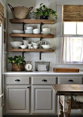 Natural Wood Floating Shelves - Ideas on Foter