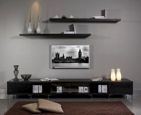 Low profile media console