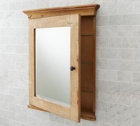 Mason Reclaimed Wood Recessed Medicine Cabinet 1