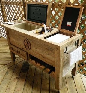 Patio Bar Ideas. Mini Bar Wood Patio Ideas T - Bgbc.co