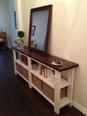 Narrow console table with storage 1