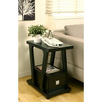 Naudine 1 drawer black end table