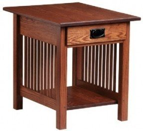 Oak End Tables With Drawers 21