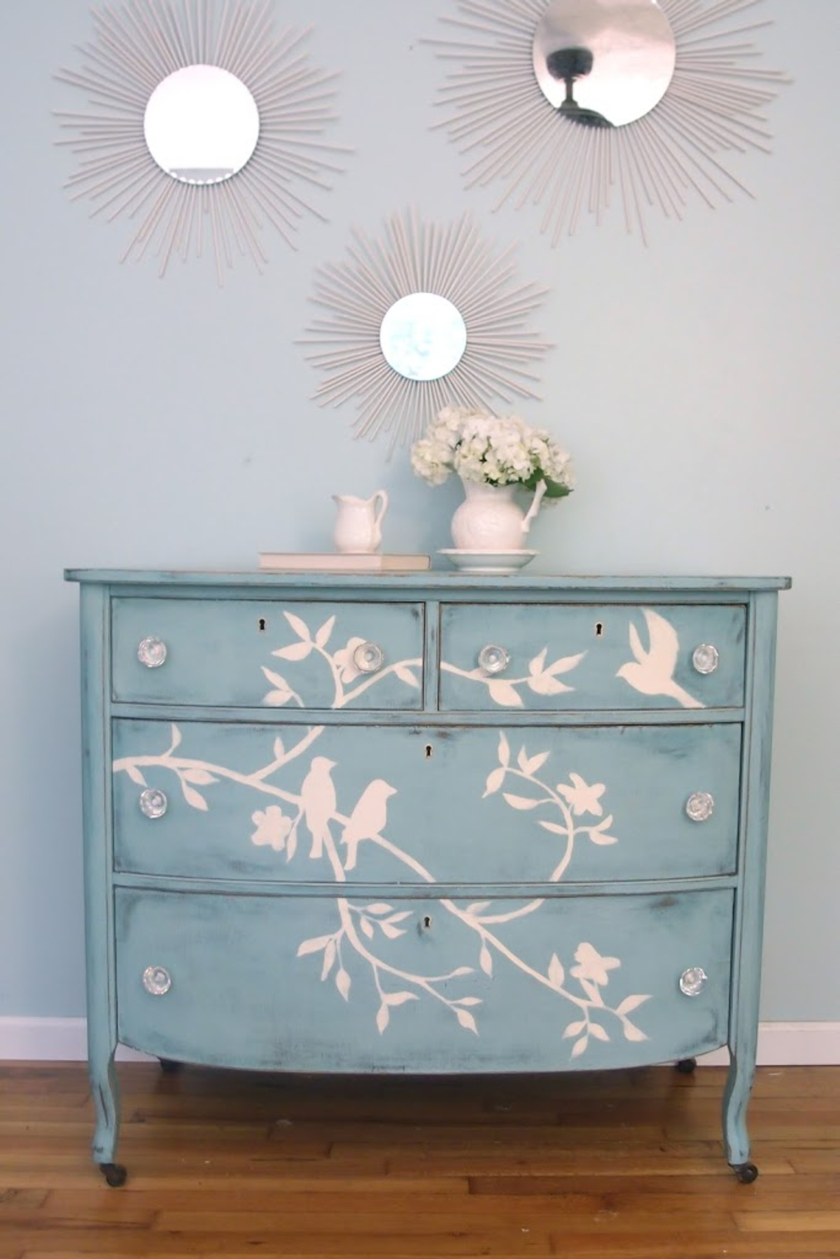 Well You Need To Consider This Hand Painted Chest Of Drawers With Blue Bird  Design And Classic Shabby Chic Romantic Style.