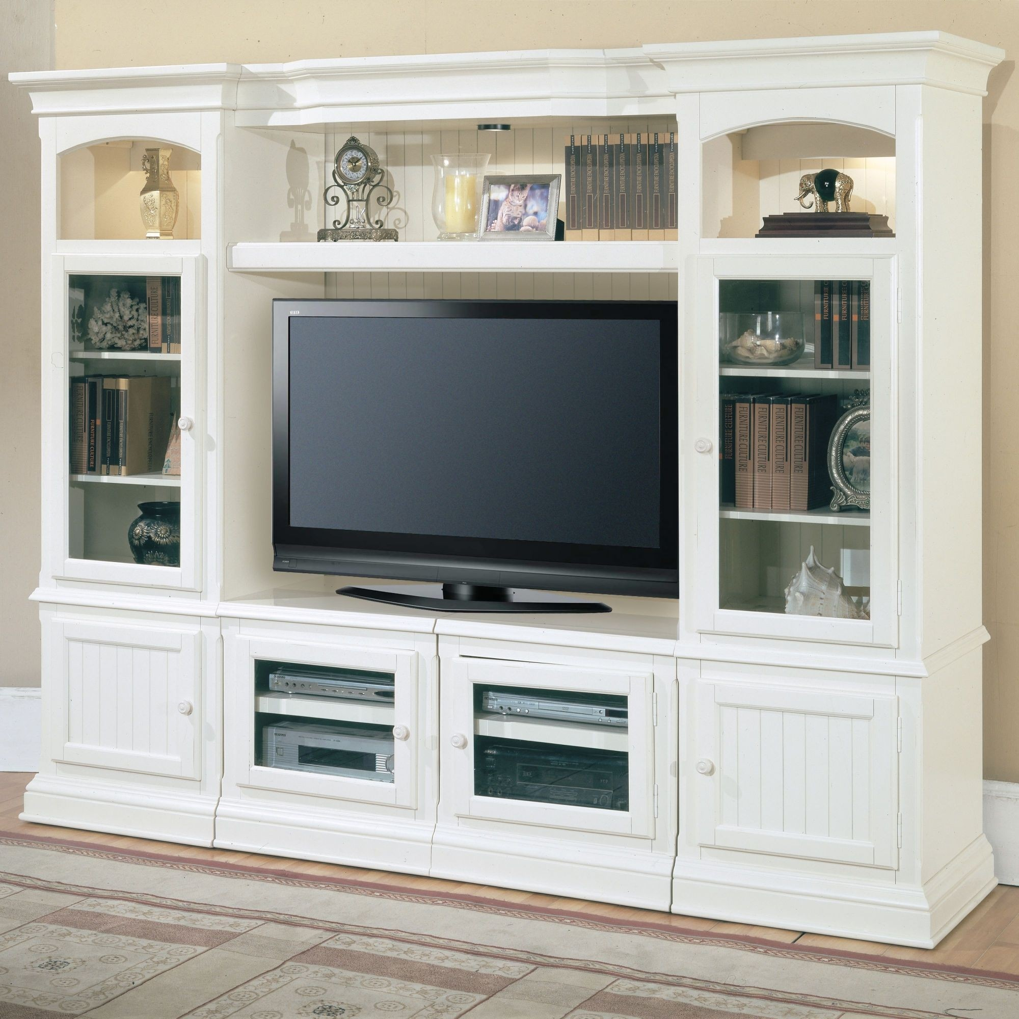 Glass Shelving Units Living Room 1. Glass TV Stand With Shelves. Parker  House Furniture Hartford Entertainment Center Har100 Set