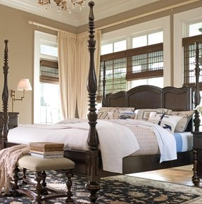 Paula deen home savannah four poster bed in tobacco 2