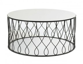 Round Glass Coffee Table Metal Base Foter