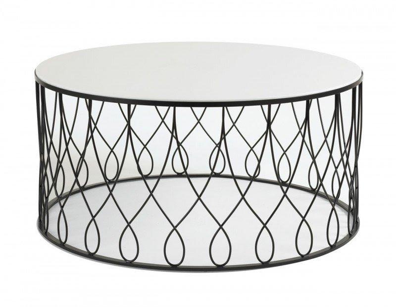Genial Round Glass Coffee Table Metal Base 4