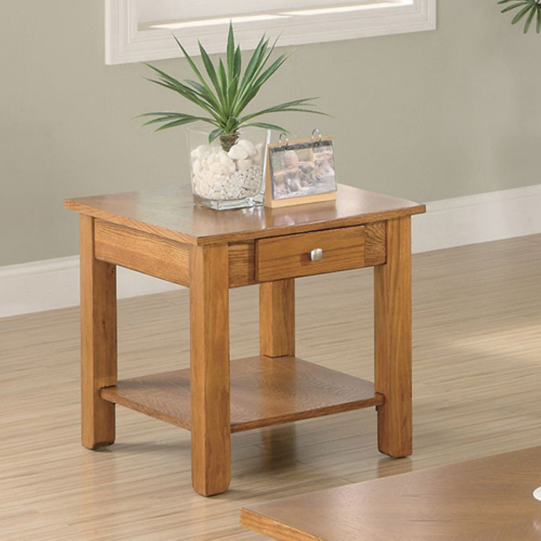 Oak End Tables With Drawers Foter