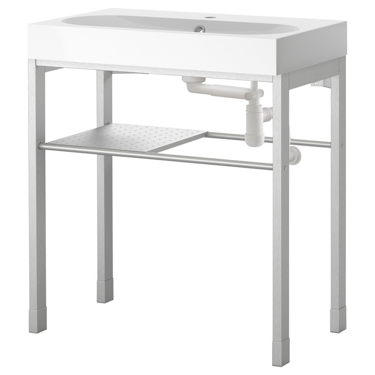 Gentil Stainless Steel Utility Sink With Legs 1