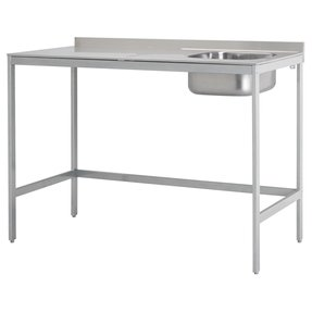 Stainless steel utility sink with legs 2