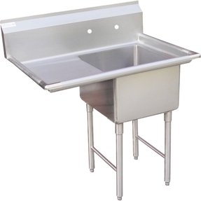 Stainless steel utility sink with legs