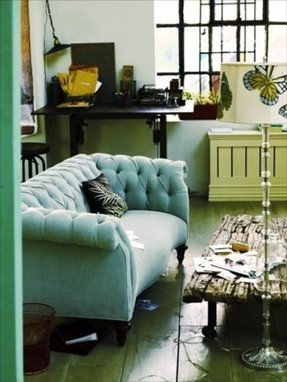 Teal Tufted Sofa Foter