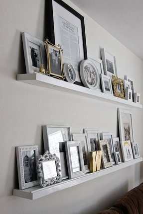 Thin wood picture frames