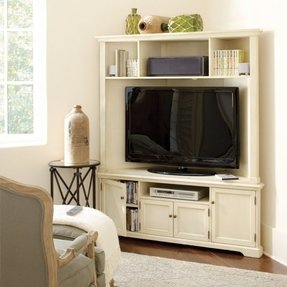 Who Doesn T Need A Fully Functional Capacious Entertainment Centre This One Here Is Perfect For Traditional Houses White Colour Makes It Nice And