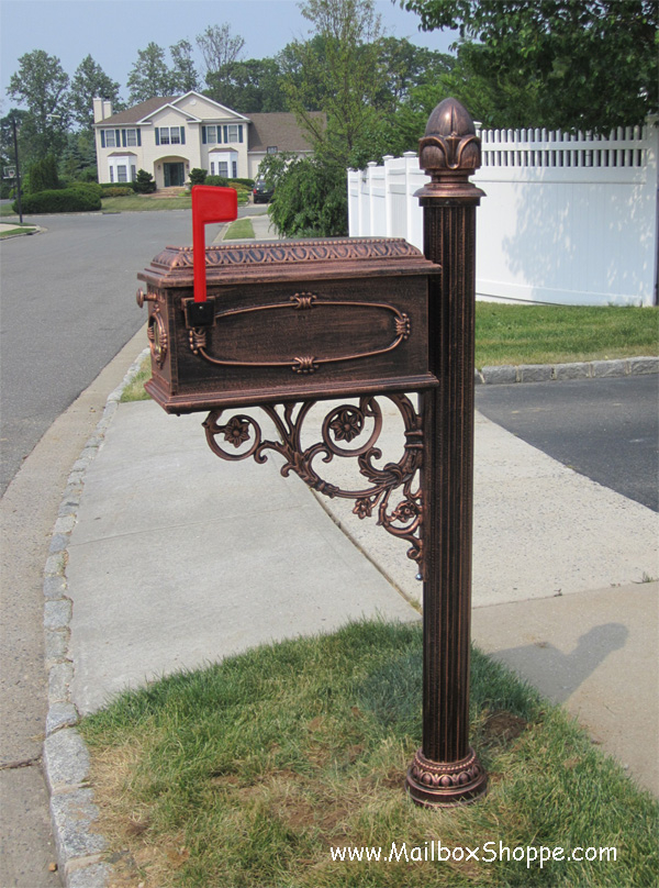 Traditional cast aluminum mailbox and post traditional mailboxes new york