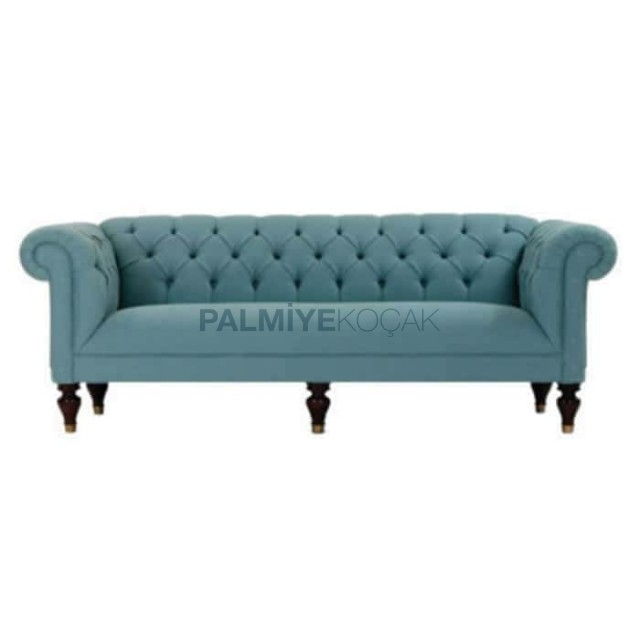 Exceptionnel Tufted Turquoise Sofa